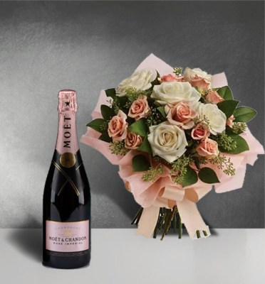 Just-Peacy-Roses-1 with moet rose